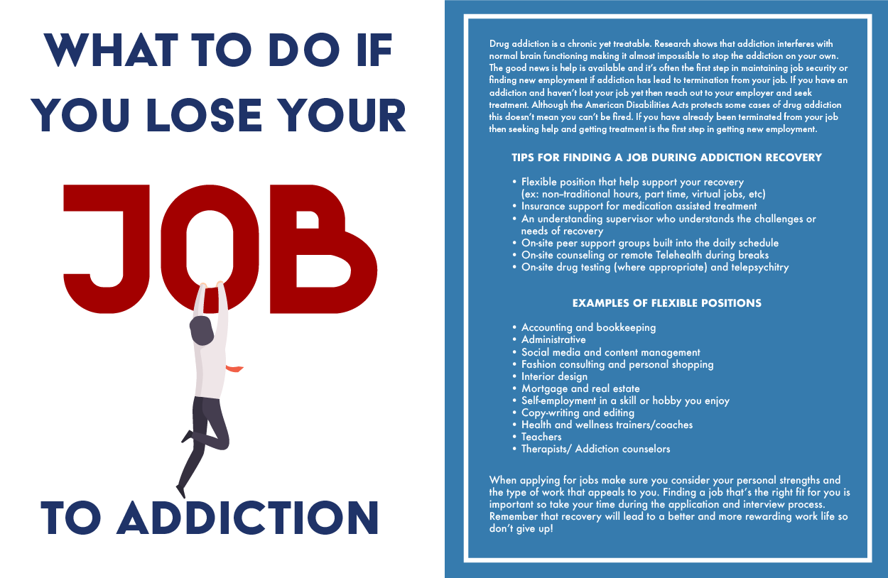what to do after losing your job to addiction